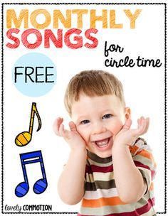 Perfect for preschool and kindergarten circle time!  Get your children singing and recognizing print with these FREE Monthly Songs.Just…