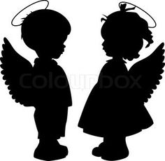 guardian angels-little boy & girl