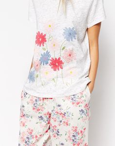 Image 3 of Cath Kidston Daisy Bouquet Printed Cotton T-Shirt