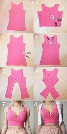 Crop Tops 816910819893804848 - These DIY tops are softer than the . - Crop Tops 816910819893804848 – These DIY tops are sweeter than the cutest summer dresses # DIY - Diy Crop Top, Diy Halter Top, Diy Kleidung, Refashioning, Cute Summer Dresses, Diy Summer Clothes, Diy Clothes Ideas No Sew, Diy Party Clothes, Diy Clothes Tops
