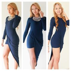"""The """"At First Sight"""" Maxi dress now also available in blue! Get them at www.trixlamix.com :-)."""