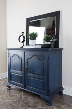 Chest painted in Annie Sloan Chalk Paint, Napoleonic. Then a coat of Clear Wax & Black Wax.  https://www.facebook.com/refurbishedgentleman/   Looking for great step by step instructional videos for furniture painting, visit: http://furniturepaintinguniversity.com/2017/