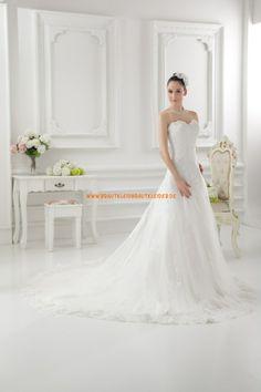 Schlichtes Schönes Brautkleid 2013 aus Organza