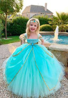 Jasmine Costume, Jasmine Dress, Princess Tutu Dresses, Princess Costumes, Arabian Nights Costume, Cute Dresses, Girls Dresses, Party Dresses, Formal Dresses