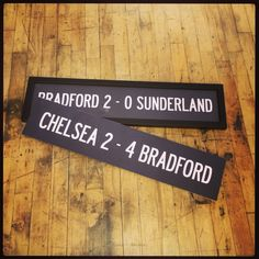 Celebrating Bradford City's FA Cup run with these framed vintage bus blinds Bradford City, London Bus, Fa Cup, Sunderland, Fathers Day Gifts, Blinds, Gift Ideas, Frame, Vintage