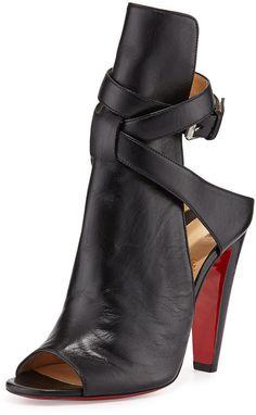 Christian Louboutin Hippik Napa Red Sole Sandal on shopstyle.com
