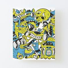 My Canvas, Canvas Prints, Art Prints, Doodle Art, Yellow, Blue, Doodles, My Arts, Cartoon
