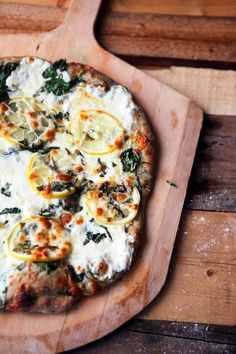Some the Wiser: Lemon Basil Pizza with Spinach and Mozzarella