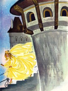 'Cinderella' (Detail) 'The Golden Book of Fairytales' Collins Publishing, 1966,United Kingdom Illustration by Felicitas Kuhn