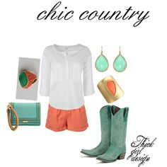 country chic, not so sure I can pull off the boots&shorts kinda thang....