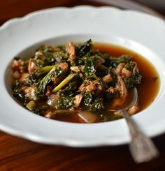 Bacon, Kale, & Turkey Stew. Eliminate the cheese to make it paleo, keep it if you eat primal. #paleo #primal