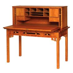 Greene and Greene inspired desk, by William Laberge. I want this for my new office.