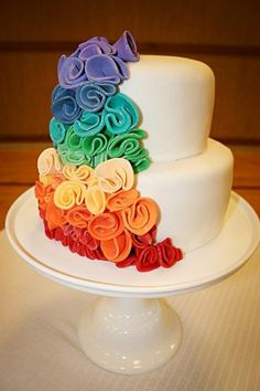 Fondant Wedding Cakes ♥ Wedding Cake Design