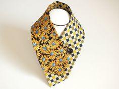 OOAK Unique Blue Yellow Black Golden Women Neckwear by OseArt, $23.00