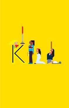 geometric- KILL BILL posters by carlitos salazar, via Behance