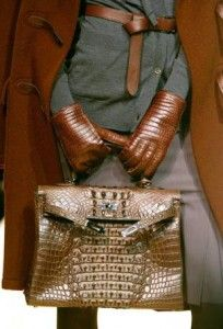 Hermes crocodile bag. Très chic.