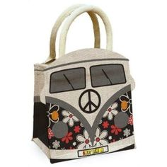 Vw Hippie Van, Volkswagen T1, Novelty Bags, Jute Bags, Big Bags, Vw Camper, My Dream Car, Vintage Handbags, Campervan