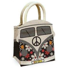 SO CUTE! I WANT IT! Retro Groove VW Volkswagen Campervan Jute Bag £ 14.99