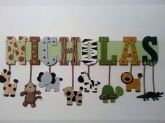 Jungle Safari Themed Name Sign Wall Letters name by AlbonsBoutique