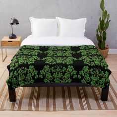 Bed & Bath, Colorful Backgrounds, Vines, Duvet Covers, Blanket, Printed, Awesome, Green, Furniture