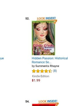 At #52 in Amazon recommended category:  #HiddenPassion a #royal #romance set in medieval India   https://www.amazon.com/Hidden-Passion-Historical-Romance-Princesses-ebook/dp/B00RBUM0EG  #bestsellers #Amazon #kindle #historical