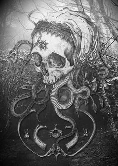 skulls and snakes<3