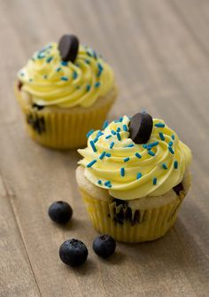 "Blueberry lemon cupcakes from Love & Olive Oil - Eat Your Books is an indexing website that helps you find & organize your recipes. Click the ""View Complete Recipe"" link for the original recipe."