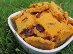 Sweet Potato Cranberry Dog Treats