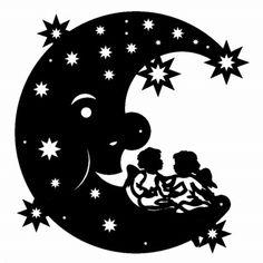 Mond mit sitzenden Engeln