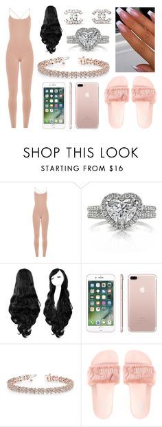 """Natalie's Outfit"" by indiawilliams1 ❤ liked on Polyvore featuring Valentino, Mark Broumand, Allurez and Chanel"