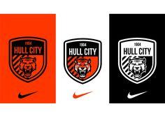 Hull city: rebranding on behance Logo Branding, Branding Design, Soccer Logo, Hull City, Fan Shirts, Badge Design, Living At Home, Kids Sports, Juventus Logo