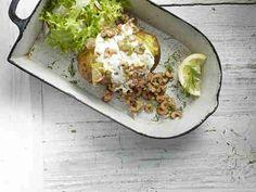 Ofenkartoffel mit Krabben & Sour Cream