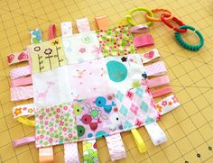 Sew Much 2 Luv: Patchwork Taggie Baby Blankie Tutorial