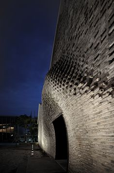 Chinese studio Archi-Union Architects programmed robots to construct the undulating brick facade of this art gallery in Shanghai's West Bund district.