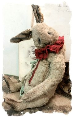 "Image of NEW DESIGN * 11"" Taylor the OLD RABBIT * By Whendi's Bears"