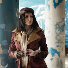 Fallout 4 - Piper Wright cosplay by on DeviantArt Fallout Art, Fallout 4 Piper, Fallout Concept Art, Fallout Tips, Fallout Cosplay, Fallout Costume, Post Apocalyptic Fashion, Fall Out 4, Video Game Art