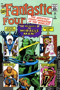 Alternate cover to Fantastic Four #3. Art by Jack Kirby and Dick Ayers.