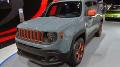 A photo gallery of the urban Mopar Jeep Renegade at the Detroit Auto Show photos) Mopar Jeep, Jeep Cars, Jeep Truck, Jeep Jeep, Fancy Cars, Cool Cars, Car Accessories For Guys, Detroit Auto Show, Jeep Renegade