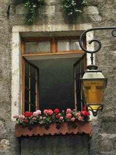 Uma característica que me encanta em Paris (e também em outras cidades) são as jardineiras nas janelas, com flores. Elas são muito si...