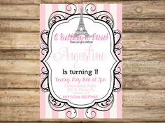 Fancy Eiffle Tower Paris Invitation  by BellaDreamDesigns on Etsy, $20.00