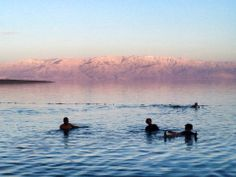 dusk in the Dead Sea