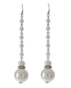 Extra Long Earrings Z2 Faux Pearl Crystal Rhodium Fish Hooks 4.50 inch Recyclebabe http://www.amazon.com/dp/B00P02ULC0/ref=cm_sw_r_pi_dp_suewub05SRWRK