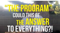 """""""The Program"""" - Could this be the answer to everything? - YouTube"""