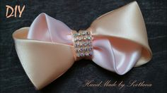 Бантик из ленты Канзаши DIY Bow of ribbon Kanzashi Laço de Cetim Curva ...