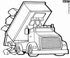 Omalovánka Kamion uvolní kameny
