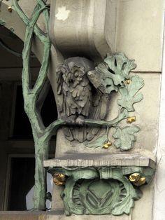 Prague - Art Nouveau Architectural Detail http://extratravelbag.com/2014/04/prague-packed-but-perfect/