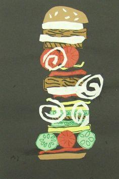 Hamburger Collage Art Project