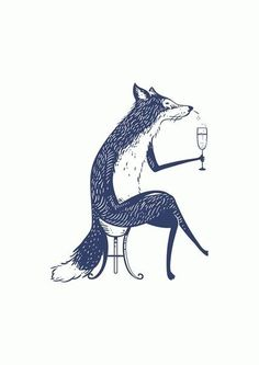Uuh! Im loving this one! sophisticated little fox ♡ this is how i always feel when im at some fancy party holding a champagne glass :D