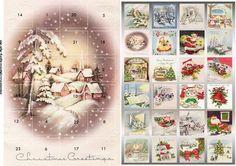 Magic of Christmas advent calendar on Craftsuprint designed by Angela Wake -