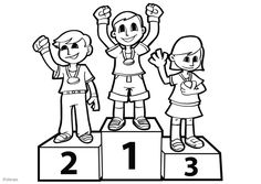 Early Education, Physical Education, Theme Sport, Running Art, Notebook Art, Podium, Kids Sports, Early Learning, Coloring For Kids